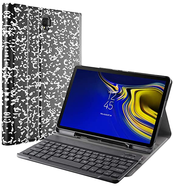 quality design d82a7 74c9a Galaxy Tab S4 10.5 Keyboard Case with S Pen Holder, Exact Design Slim Shell  Stand Cover w/Magnetically Detachable Wireless Bluetooth Keyboard for ...