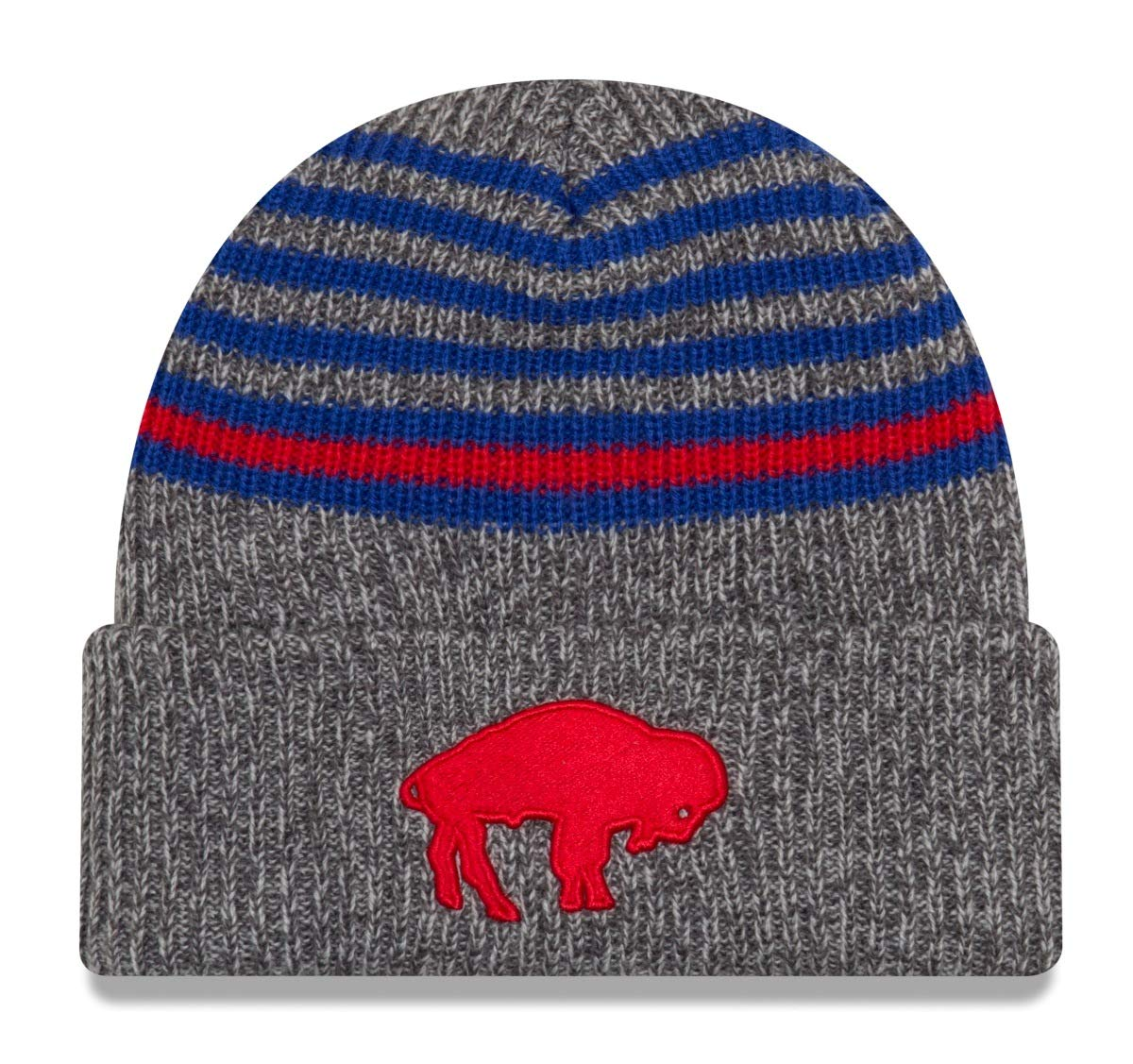 1a993180 Amazon.com : New Era Buffalo Bills Stripe Strong Cuffed Knit Hat/Cap ...