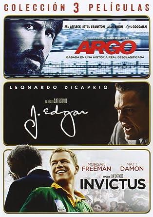 Pack Argo + J. Edgar + Invictus [DVD]: Amazon.es: Ben Affleck, Leonardo DiCaprio, Morgan Freeman, Ben Affleck, Clint Eastwood, Ben Affleck, Leonardo DiCaprio, Grant Heslov, Clint Eastwood: Cine y Series TV