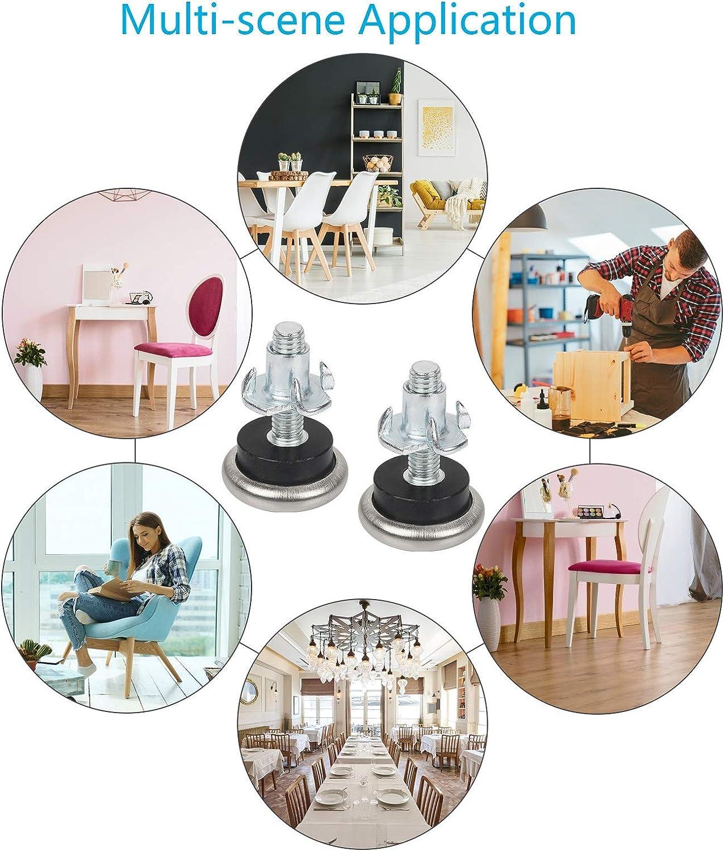 Elevador de muebles Altura ajustable Antideslizante Seisso Patas de muebles para electrodom/ésticos 4pcs reducir ruido y vibraci/ón Pies para lavadora Nevera