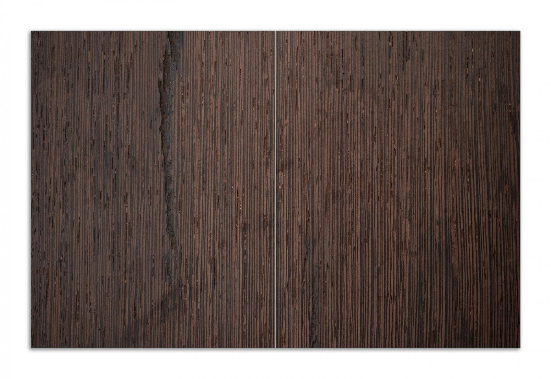 f/ür Ceran- und Induktionsherde 1-teilig Wallario Herdabdeckplatte//Spritzschutz aus Glas Holz-Optik Textur dunkelbraunes Holz 52x60cm