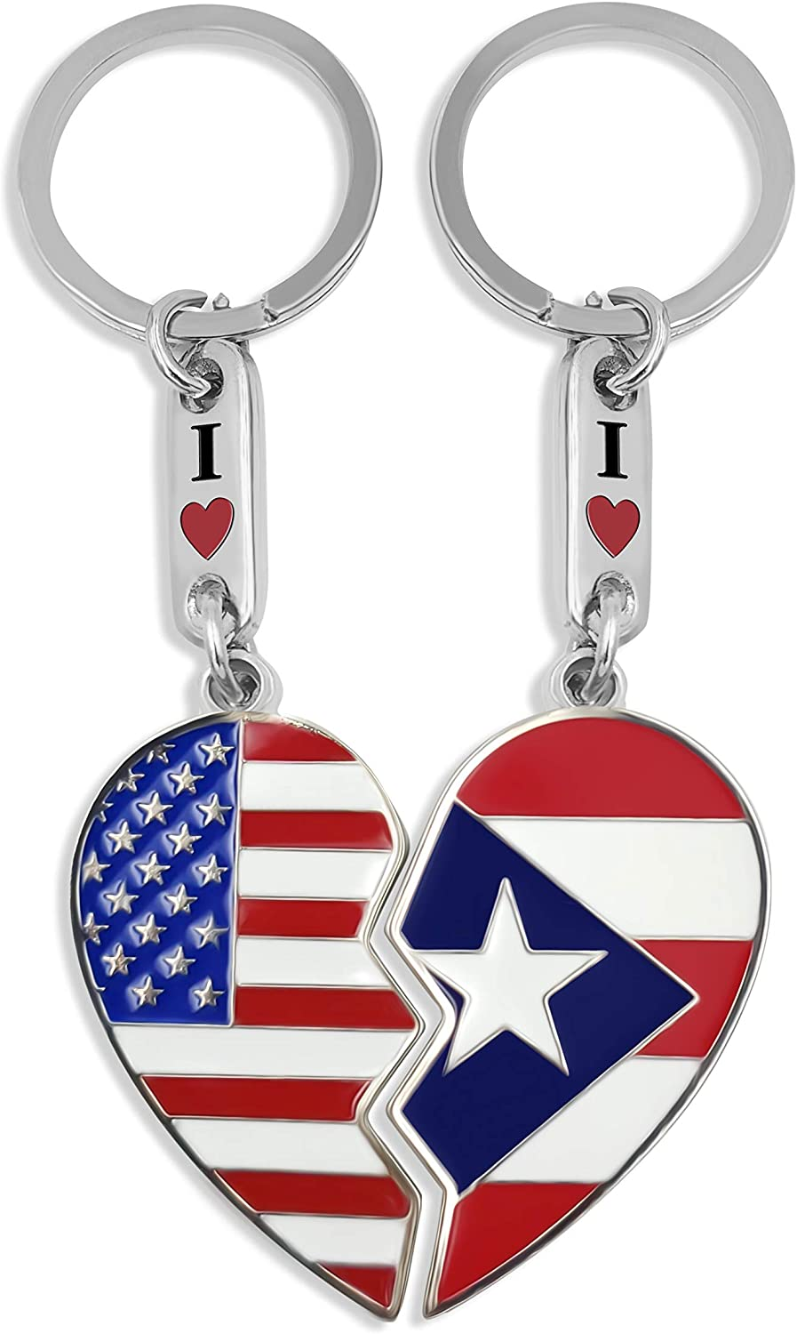 Amazon.com: flagsandsouvenirs Puerto Rico Flag & USA Flag ...