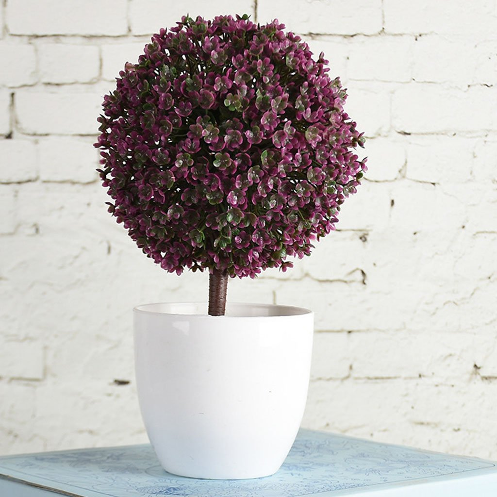 Sharplace Fausse Plante Artificielle en Plastique Bonsa/ï Fleur Mariage Bureau D/écor /à Maison Violet