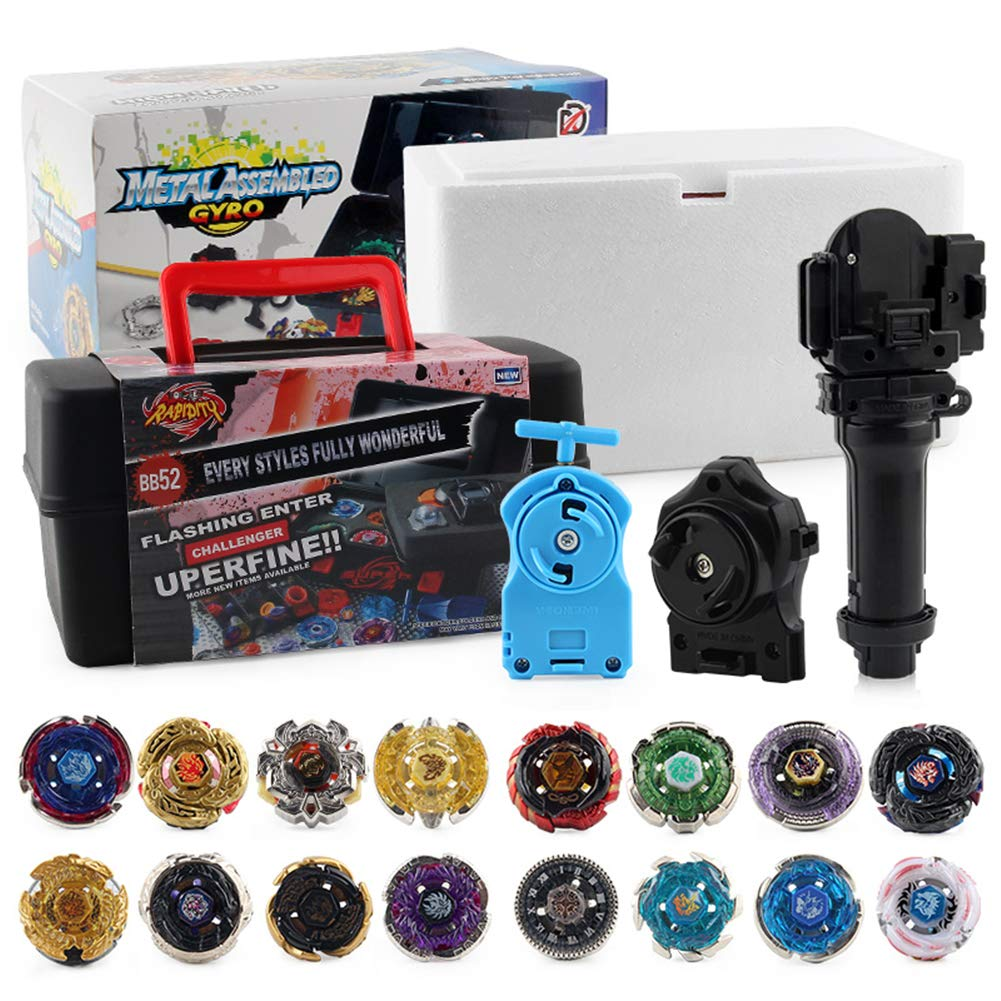 12 Pieces Bey Burst Evolution Switchstrike Battling Top with Storage Box Launcher Burst Toys for Birthday Gift by Cirans