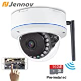 Jennov 720P Wifi Wireless IP Security Camera Outdoor Waterproof Cctv Dome Cameras With 16G MicroSD Card Day Night Vision Mobilephone Remote View