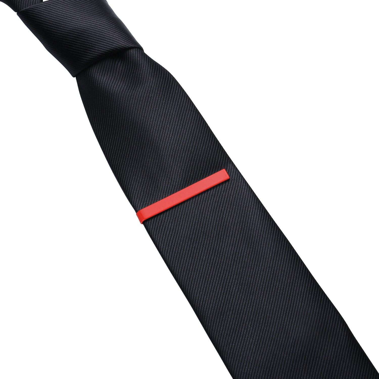 HONEY BEAR Mens Tie Clip Bar Normal Size Steel for Business Wedding Gift 5.4cm