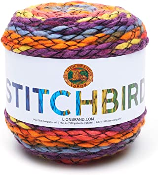 Chickadee Lion Brand Yarn 218-504 Stitchbird Yarn Pack of 3 Cakes