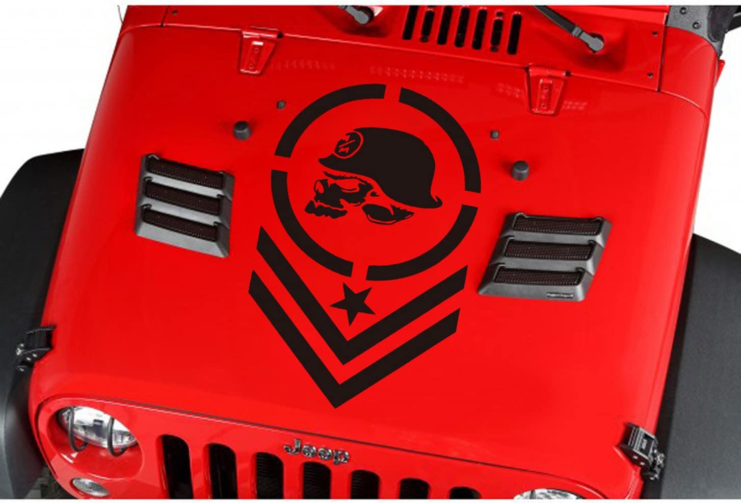 Jeep  Wrangler Decals Distressed Metal Mulisha Vinyl Hood Decal