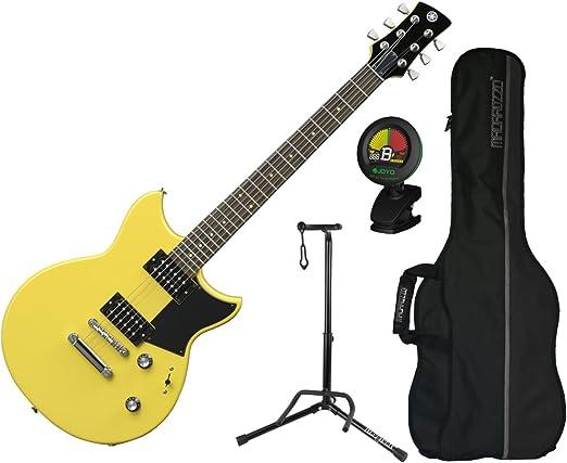 Yamaha revstar RS320 Syl double-cutaway guitarra eléctrica (Stock Amarillo) W/bolsa de concierto, sintonizador, y soporte: Amazon.es: Instrumentos musicales