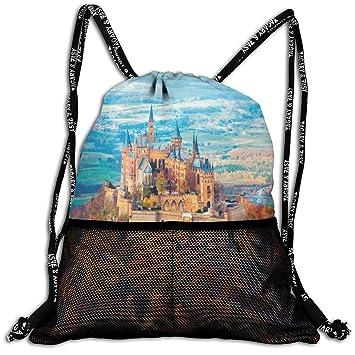 Amazon.com: Bolsa de cordón Neuschwanstein Castillo de otoño ...