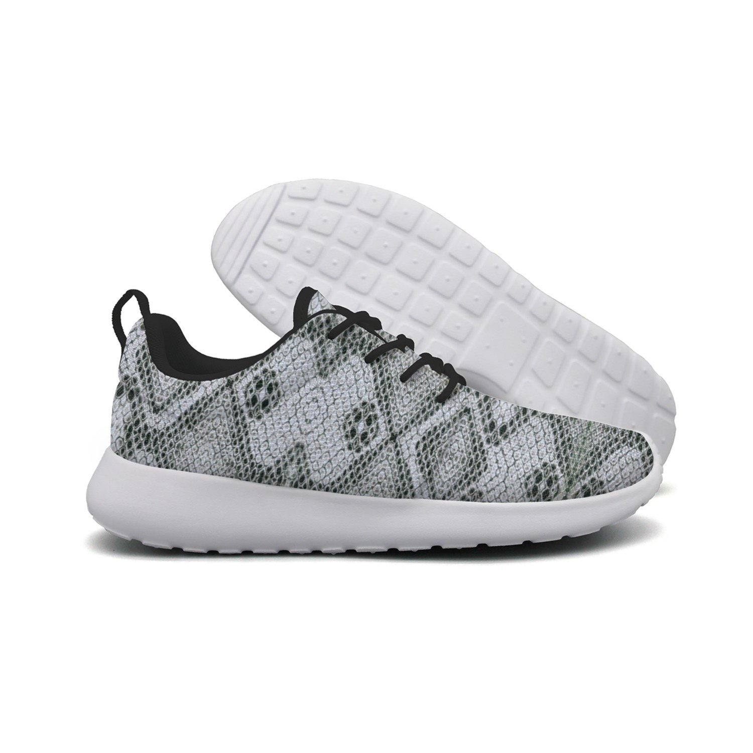 FUFGT White Snake Skin Women's Net Design Running Shoes Hunting Colorful