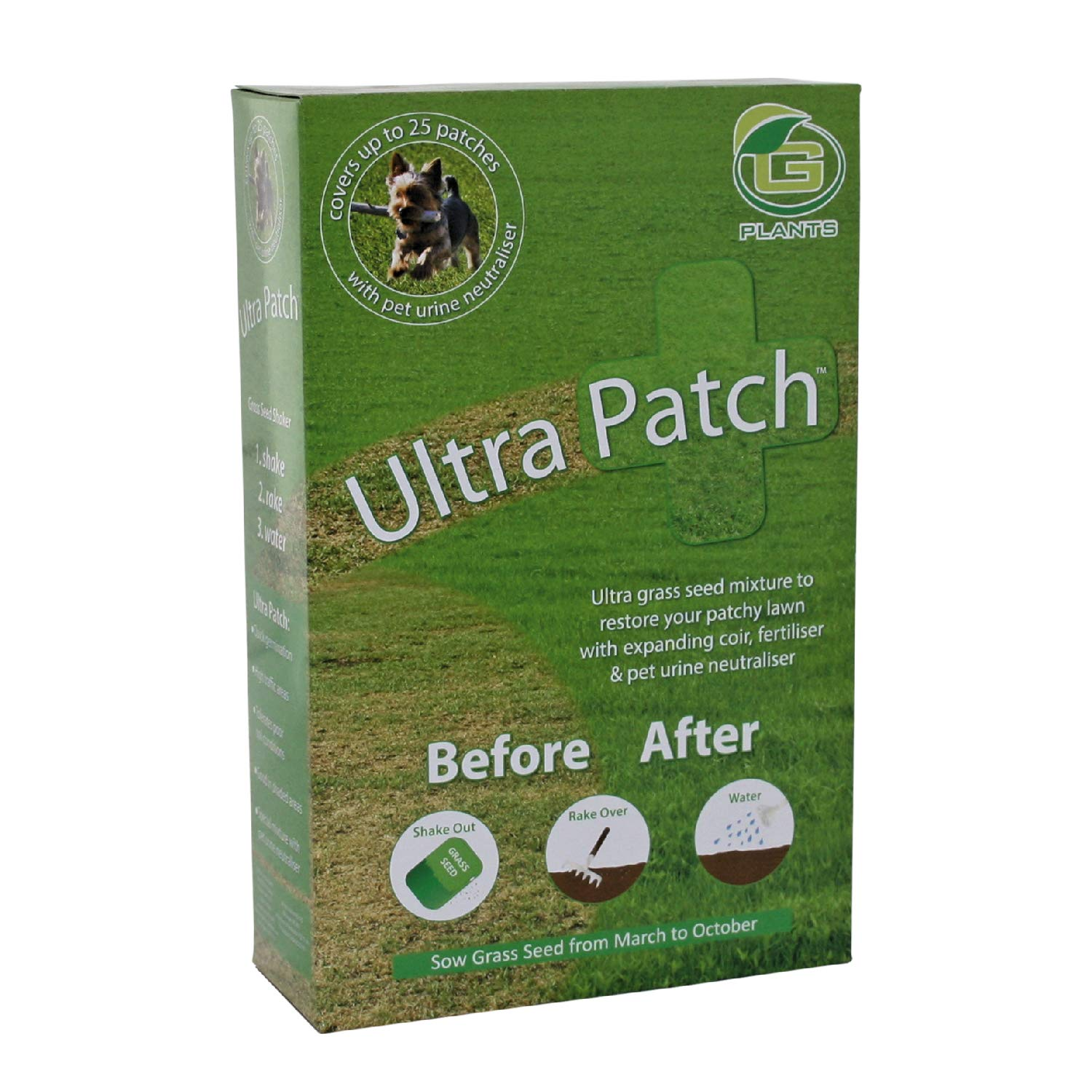 G plants 200g grass seed ultra patch: amazon. Co. Uk: garden & outdoors.