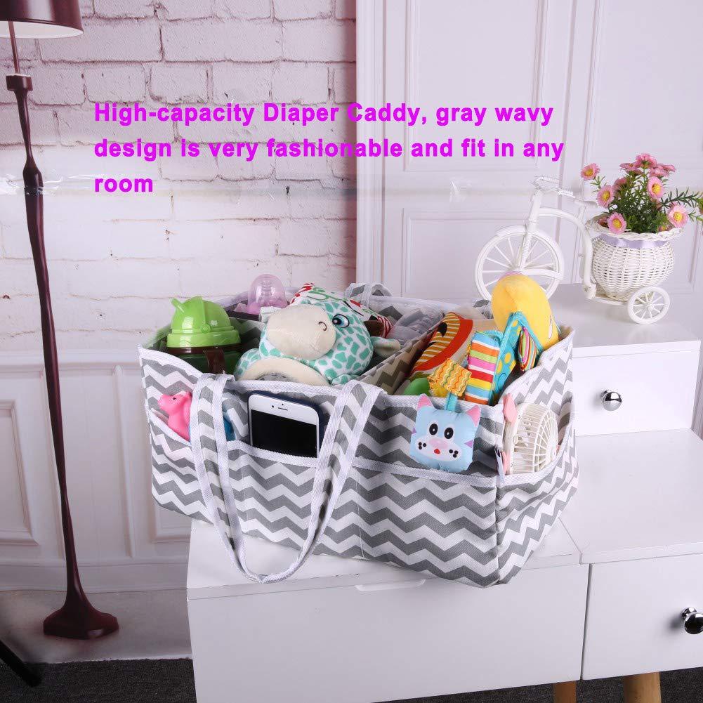 Amazon.com: Organizador de pañales para bebé, de algodón de ...