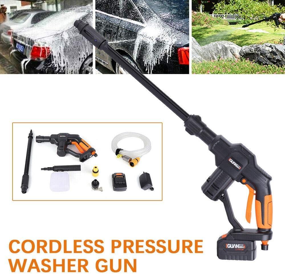 pistola de agua de alta presi/ón de 5 m Aboyia Limpiador de alta presi/ón con bater/ía de 20 V y juego de accesorios para lavado de coches
