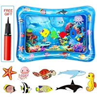 POWOBEST Baby Tummy Time Water Play Mat for Girl Boy Infants,Inflatable Infant Baby Toys & Toddlers Fun Activity Play Center for Boy & Girl Growth Brain Development Toys (Type 1)