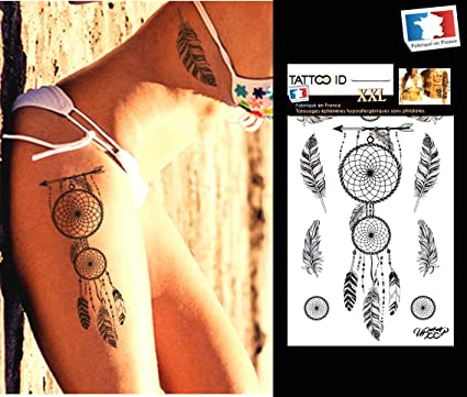 Tatouage Ephemere Temporaire Femme Dreamcatcher Attrape Reves Tattoo