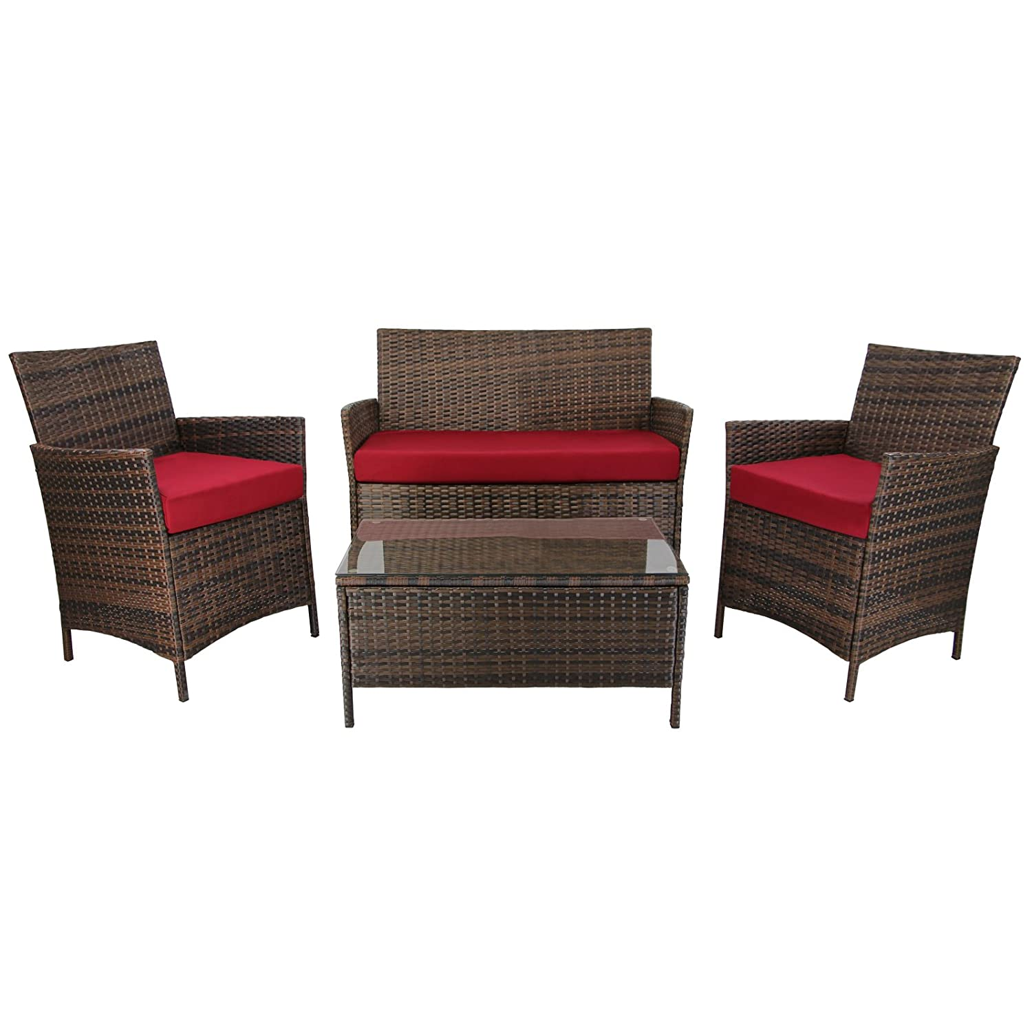 7 teilige rattan sitzgruppe lounge kuba lounge set poly for Lounge set rattan gunstig