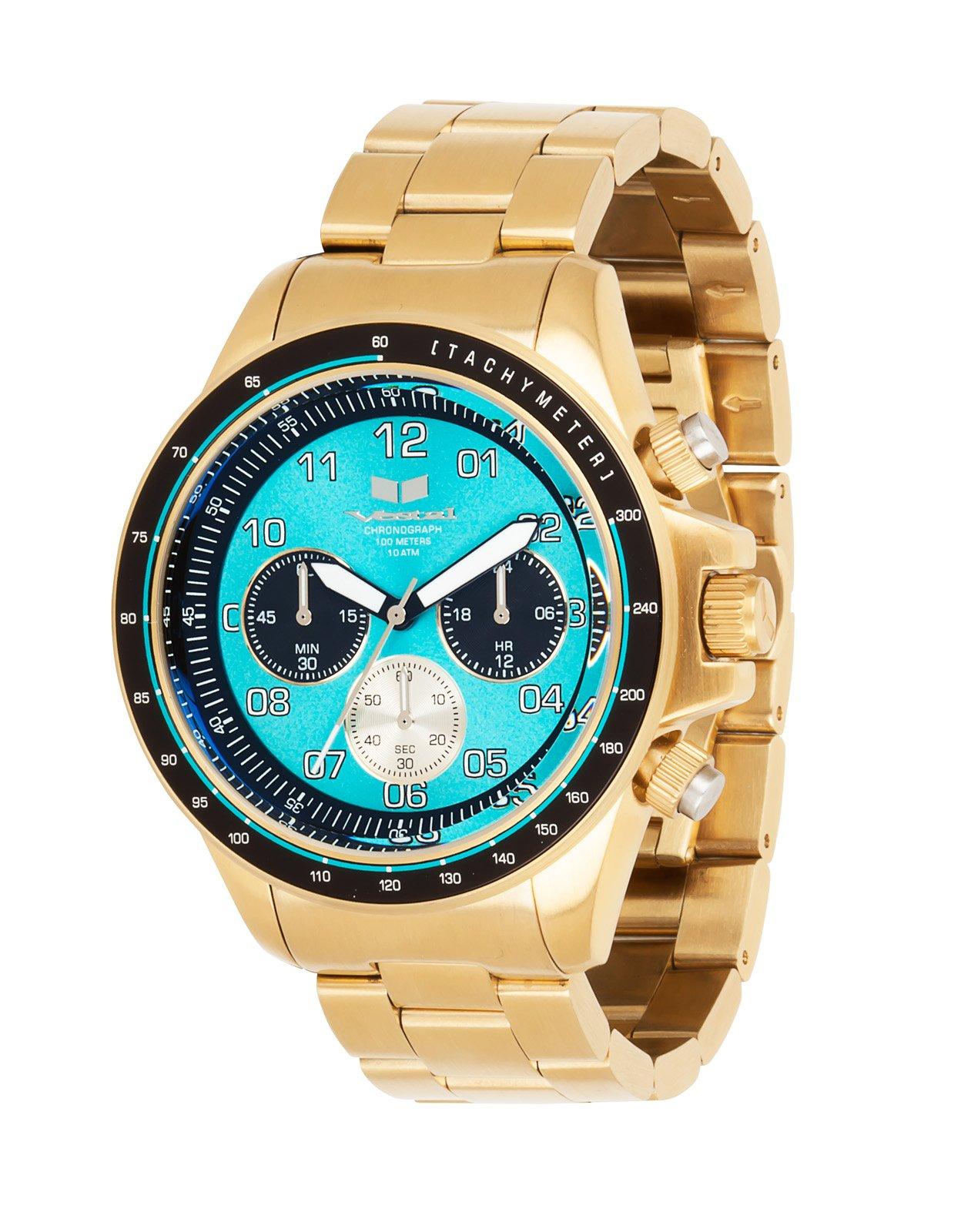 Vestal Men's ZR2023 ZR-2 Analog Display Japanese Quartz Gold Watch