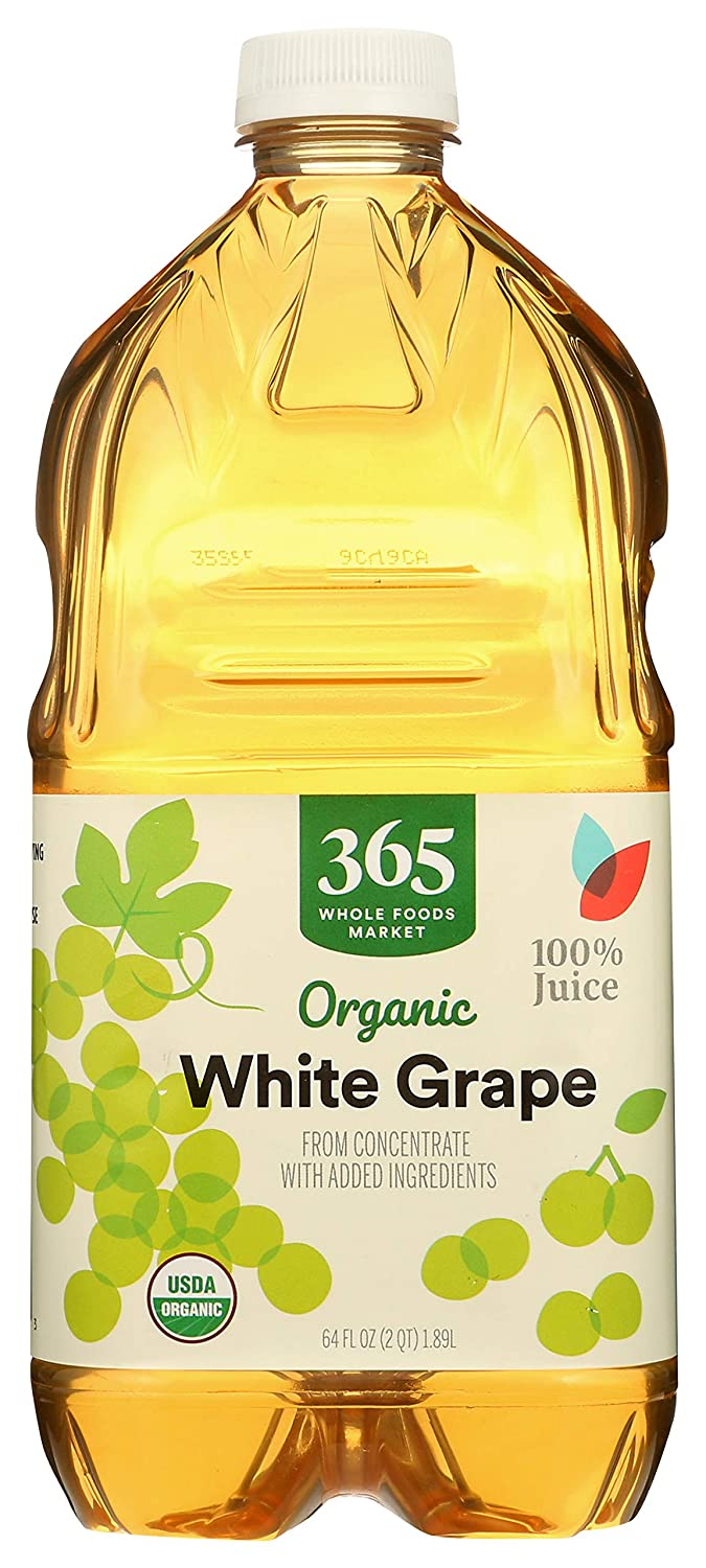 365 Everyday Value, Featuring Wild Kratts, Organic 100% Juice from Concentrate, White Grape, 64 fl oz