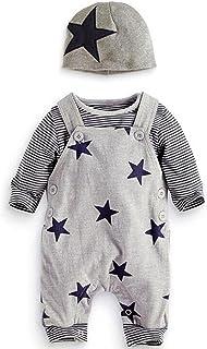 Neue Baby Set Kinder Jungen Mädchen Kleidung Nette Sterne Muster Sling Hosen Streifen Shirts Kleidung hellomiko