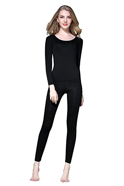 2019 clearance sale price reduced available Vinconie Thin Thermal Underwear for Women Long Johns Set Scoop Neck Base  Layer