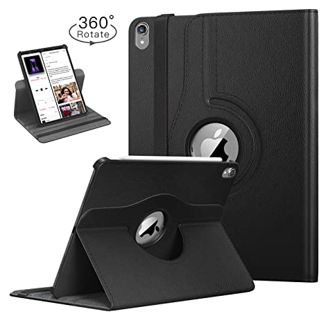 TiMOVO Folio Case for iPad Pro 11 Inch 2018 - [Support Apple Pencil Charging] 360 Degree Rotating Smart Leather Swivel Case with Auto Sleep/Wake for ...