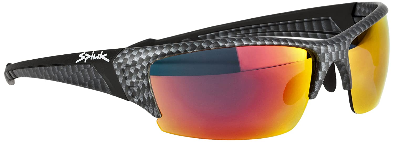 Spiuk Binomial - Gafas de Ciclismo Unisex, Color Carbono/Negro