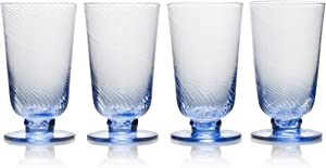 Mikasa Avalon Iced Beverage Glass, Set of 4, 15-Ounce, Blue
