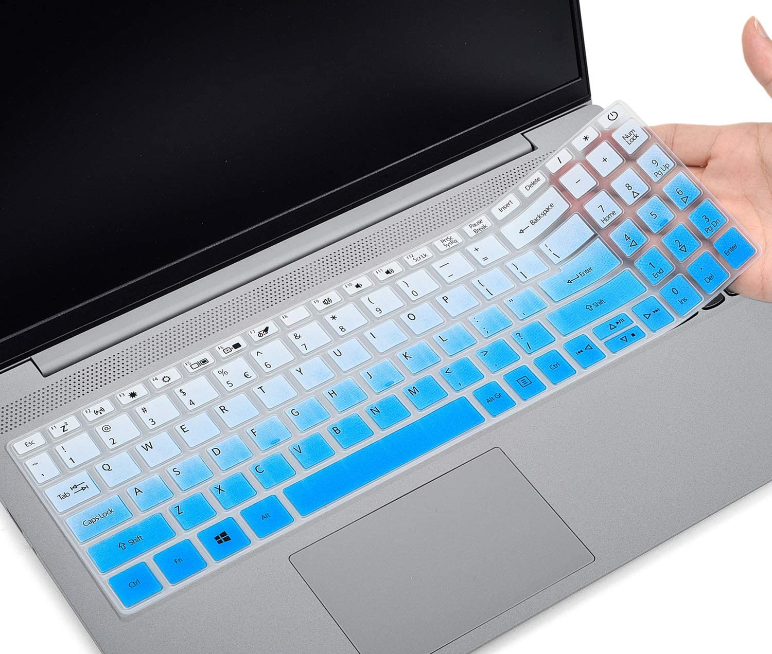 CaseBuy Keyboard Cover for Acer Aspire 5 Slim Laptop 15.6 inch A515-43 A515-54 A515-54G Series, Acer Aspire 5 Slim Laptop Cover, Acer Aspire 5 Accessories,Ombre Blue