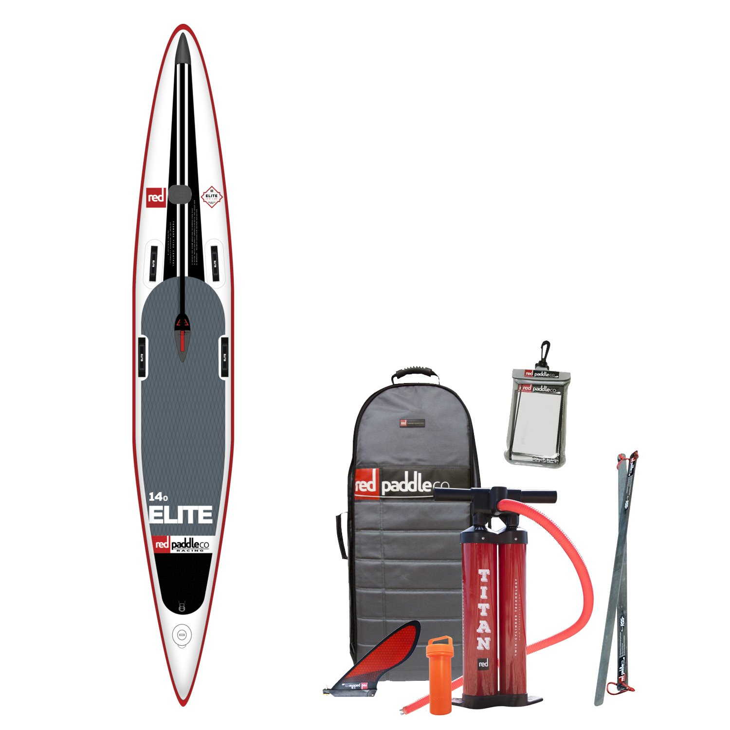 2017 Red Paddle Co 140 Elite Inflatable Stand Up Paddle Board Bag Pump Paddle /& LEASH