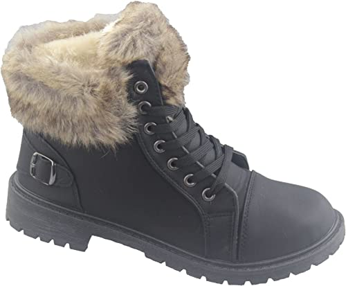 Womens Ankle Boots Warm Winter Work