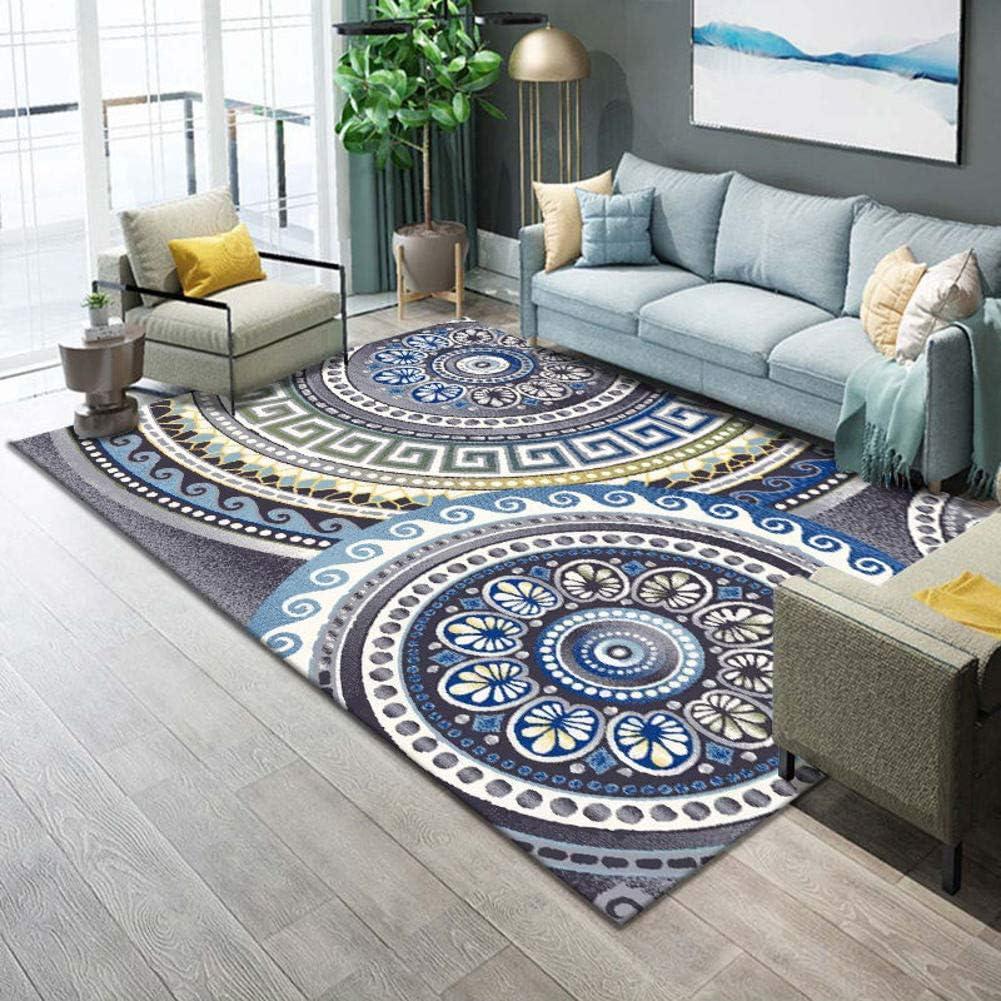 TriGold Soft Area Rugs Moroccan, Modern Geometric Floor Carpet Abstract Throw Rug Soft Velvet Home Decor Carpet Mat Living Room Bedroom-i 140x200cm(55x79inch)