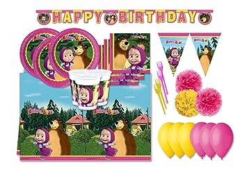 Decoraciones de Fiesta de cumpleaños de Masha and Bear