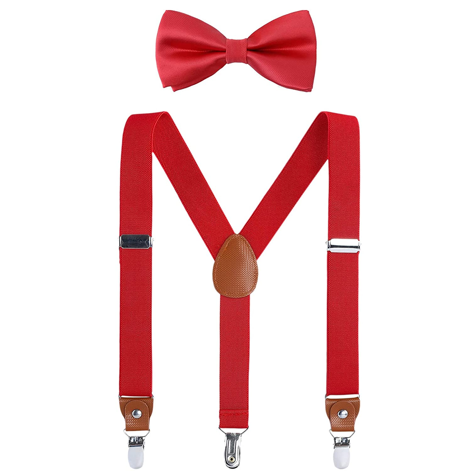 Children Boys Kids Adults Suspenders Navy blue, 24 inches 7 Months - 3 Years Sturdy Metal Clips Genuine Leather Suspender