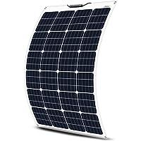 ECO-WORTHY Panel solar flexible de 12 voltios y 130 vatios para cargar la batería de vehículos recreativos, barcos y más