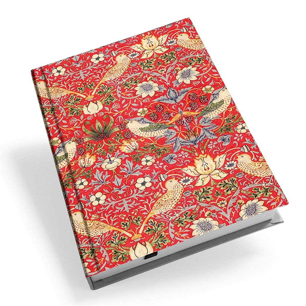 William Morris Red Strawberry Thief A5 Hardback Address Book