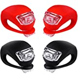 Malker Bicycle Light Front and Rear Silicone LED Bike Light Set - Bike Headlight and Taillight,Waterproof & Safety Road…