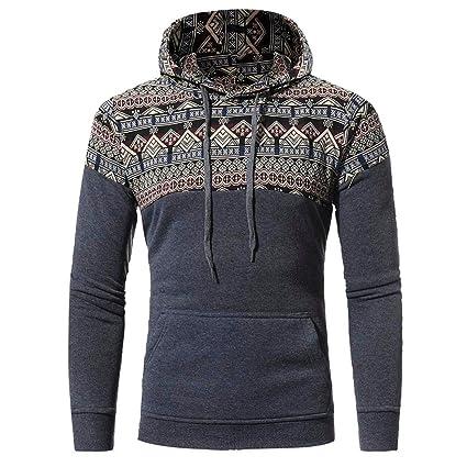 Hombres Sweatshirts con capucha, lmmvp Hombres Deporte Retro ...