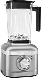 KitchenAid KSB4027CU K400 Countertop Blender, 56 OZ, Contour Silver (Renewed)