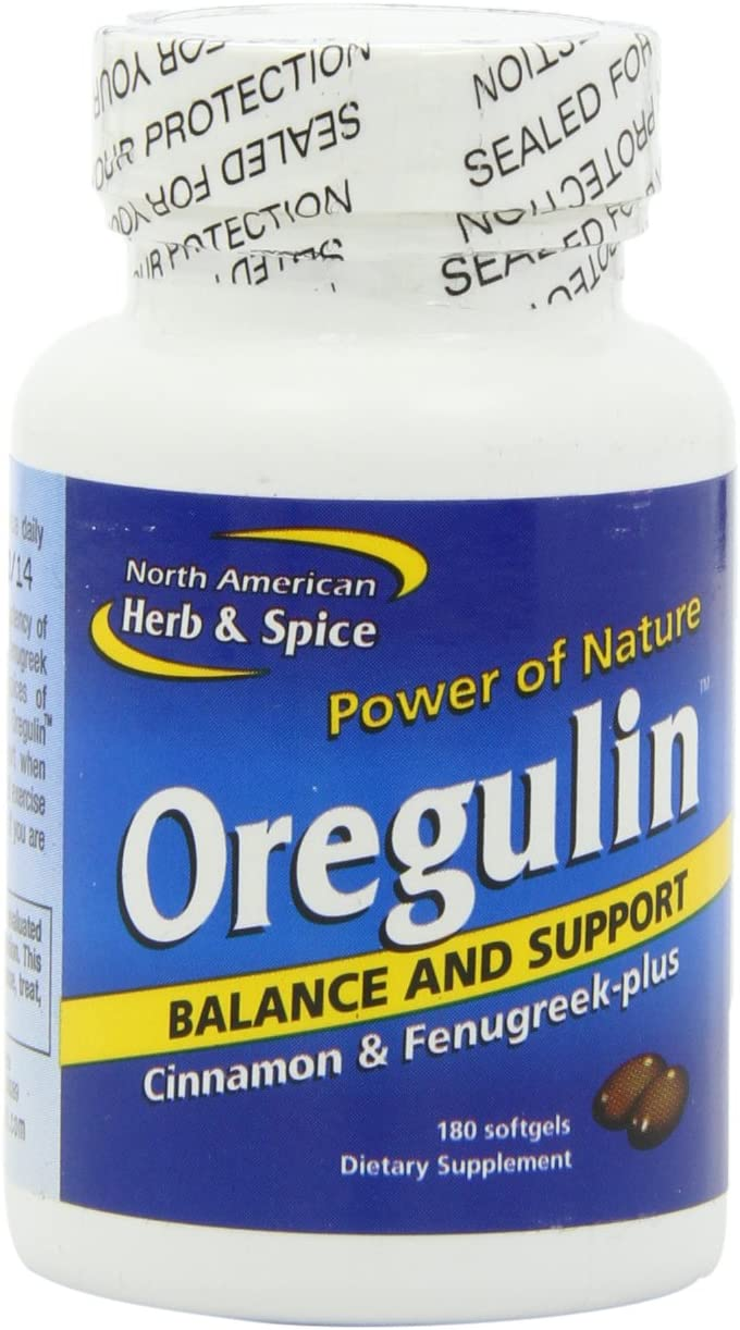 North American Herb and Spice, Oregulin Gel-Capsules, 180-Count