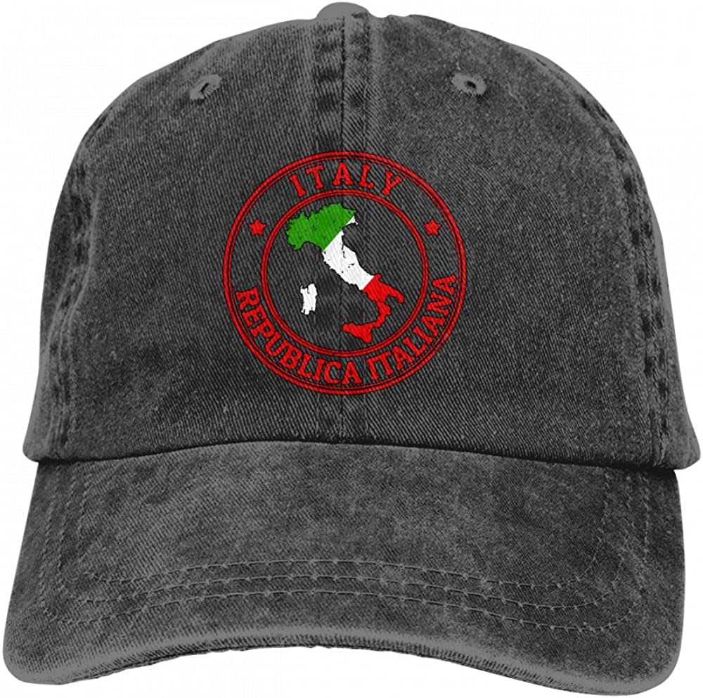 Best4U/&Me Unisex Vintage Washed Dad Hat Italy Republica Italiana Popular Adjustable Baseball Cap