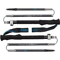 Paria Outdoor Products - Bastones de Trekking de aleación de Aluminio Plegable - Extensibles, Ajustables y ultraligeros - Ideales para Caminatas, mochileros, Marcha nórdica.