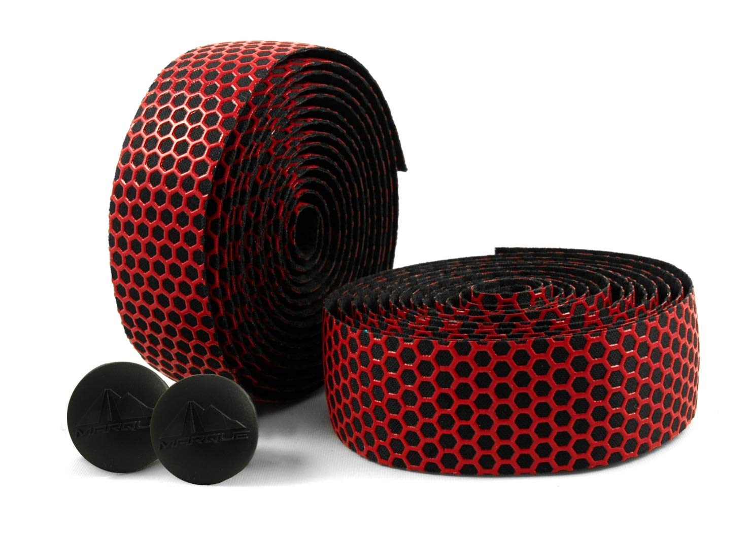 MARQUE Hex Grip Bar Tape - Road Bike Handlebar Tape 2PCS per Set (Red) by MARQUE