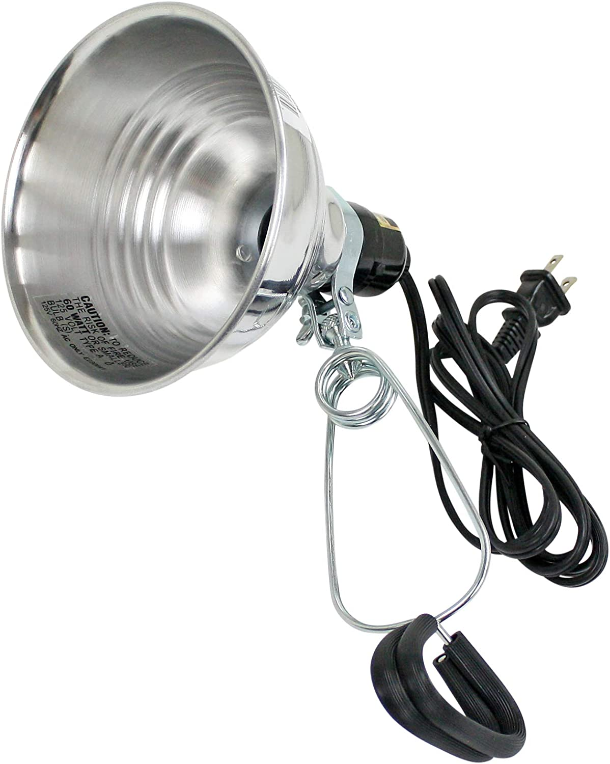 5.5-Inch Prime Wire and Cable Prime CL060506 Reflector Clamp Lamp with 6-Feet 18//2 SPT-2 Cord