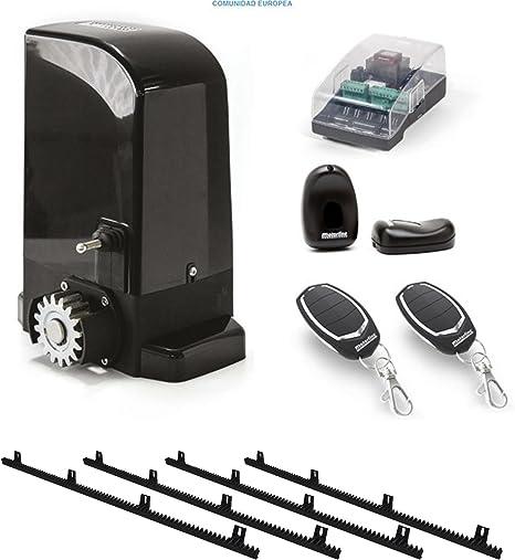Kit Completo Motor corredera Profesional para automatizar Puertas y cancelas correderas de hasta 500 kg de Peso, con Cremallera de Nylon y Acero, fotocelula, mandos, y Placa de maniobras.: Amazon.es: Electrónica