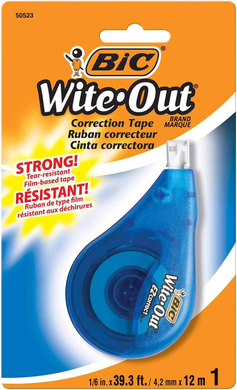 Bic Wite Out Correction Tape, 1 Tape : White Out Tape : Office Products
