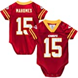 Outerstuff Patrick Mahomes Kansas City Chiefs #15 Newborn Infant Player Name & Number Onesie Jersey