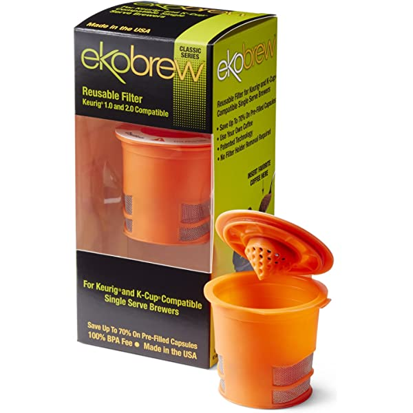 Amazon.com: ekobrew Classic Jarra Filtro, Naranja: Kitchen ...