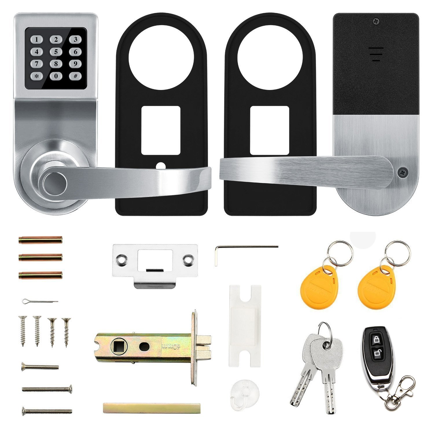 Keyless Electronic Digital Smart Door Lock, Keypad – Smartcode Security, Grant & Control Access for Home, Office (Silver) by Colosus (Image #7)