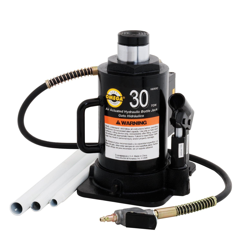 Amazon.com: Omega 18302C Black Hydraulic Bottle Jack - 30 Ton Capacity: Automotive